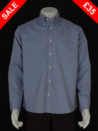 Only this shirt.herringbone sky blue shirt Size M / Neck 16""