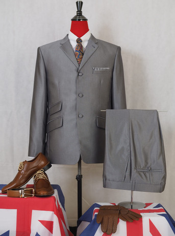 This suit only. silver tonic suit 40R jacket/34-32 Trouser