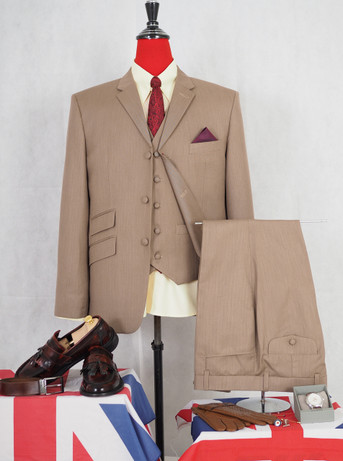 Only this suit. mod style classic light brown suit 40R jacket / 34-32 trouser
