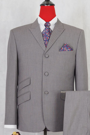 pinstripe jacket|light grey 60s mod fashion tailored pin stripe jacket for men