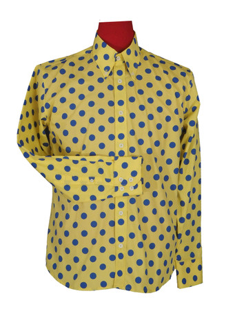 Yellow big polka dot shirt