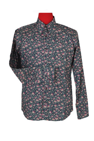 Multi color  floral  shirt  size medium