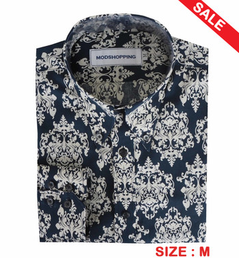 Navy floral print shirt size medium