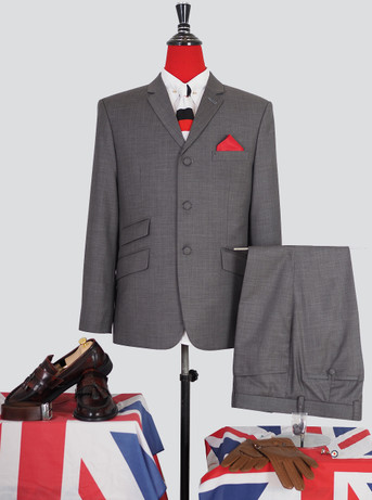 Only this suit| Pale Grey Colour Mod Suit 46 short , Trouser 38 - inside leg 28