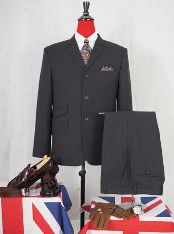 Only this suit| charcoal suit Jacket 42 Regular , Trouser 34 - inside leg 32