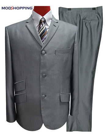 Only This Suit| Silver Tonic Jacket 38 Regular , Trouser 32 - Inside Leg 32