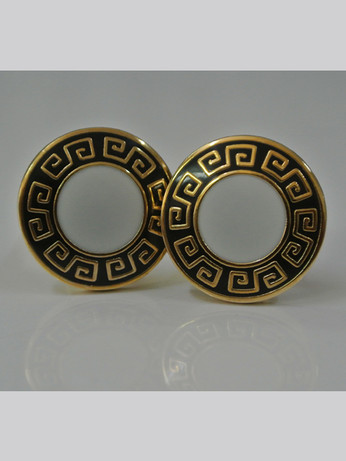 1960s mod clothing round gold cufflinks for men, mod style