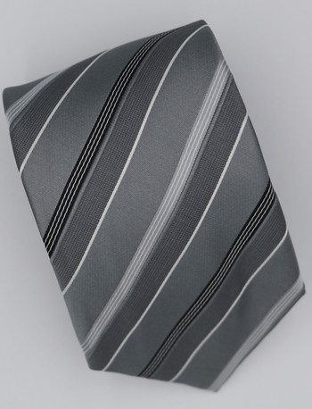 Multi color  striped tie