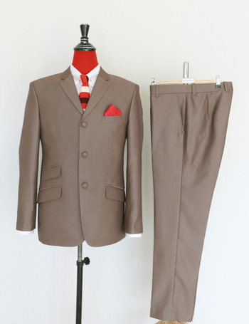 Tonic suits | Radish brown semi tonic 70s suit