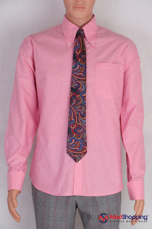 Button down pointed  collar shirt | Pink color shirt for men