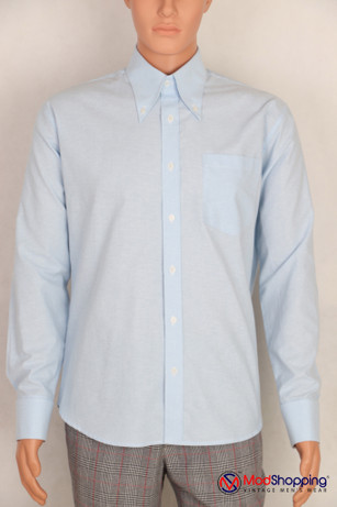 Button down pointed  collar shirt | Sky color shirt for men