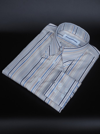 Penny Pin Collar Shirt |  Stripe Shirt For Men