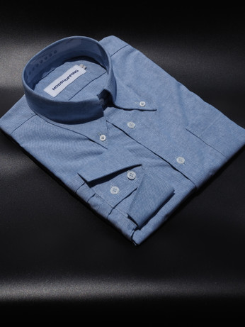 Button down pointed collar shirt | Blue color shirt