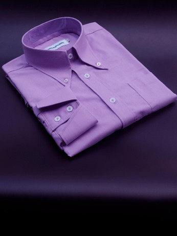 Button Down Pointed Collar Shirt | Purple Color Shirt