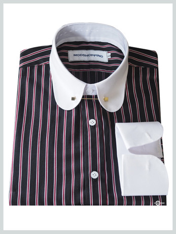 Black with red stripes shirt for man
