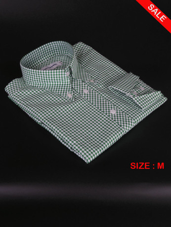 Green Gingham Shirt|Green Long Sleeve Gingham Shirt Uk Sale