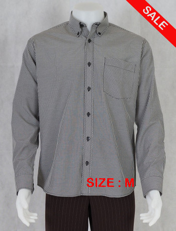 Gingham Shirt| Black Small Longsleeve Gingham Shirt Sale