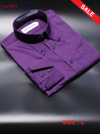 Button down pointed collar shirt | Purple color shirt sale