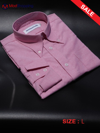 Button Down Pointed Collar Shirt   Pink Color Shirt For sale