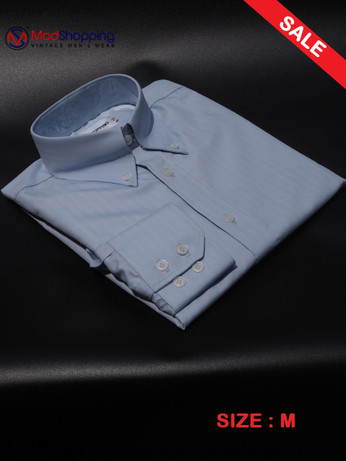 Herringbone Light Blue Shirt SALE