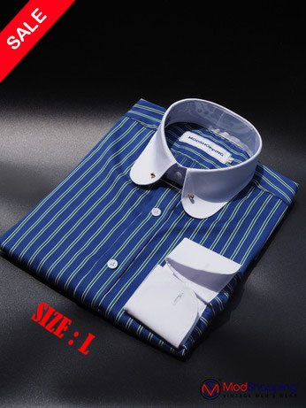 Penny Pin Collar Shirt | Blue White Stripe Shirt Sale