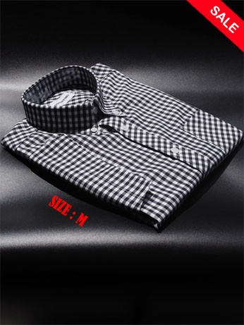 Black Retro Gingham Shirt| Tailore Made Gingham Check Shirt  Sale