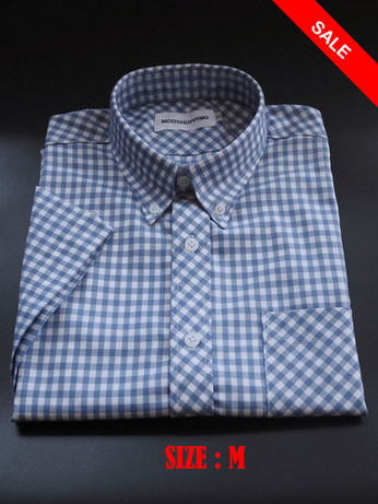 Gingham Shirt| Tailore Made Mens Slim Fit Ocean Blue Sale