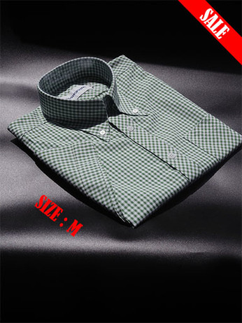 Green Gingham Shirt|Green Short Sleeves Gingham Sale