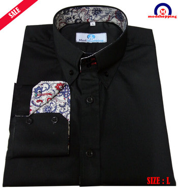 Black And Flowral Button Down Sale