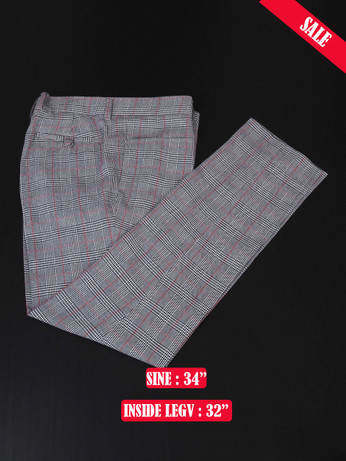Light Grey Pow Check Trouser Sale