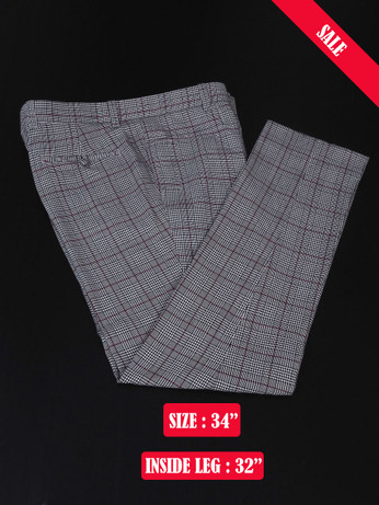 Pow Check Trouser Light Grey 1960s Sale