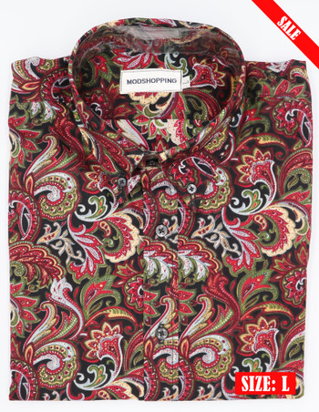 multi color paisley Pattern Shirt
