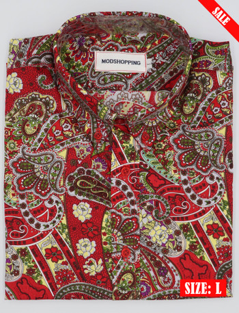 multi color Paisley Shirts