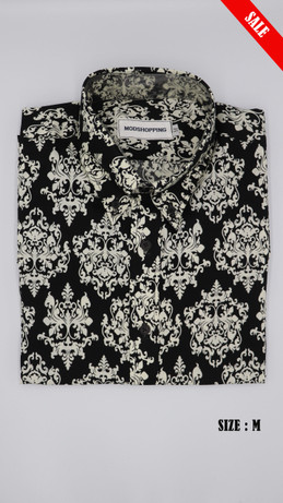 Black & white Floral long sleeve shirt