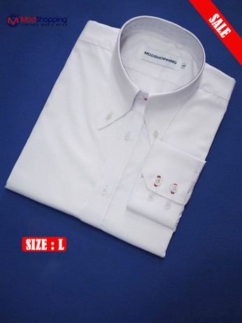 High Collar White Shirt| Formal Shirts Size L