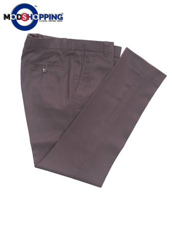 Sta Press Trousers| Slim Fit Cotton Brown Sta Press Trouser