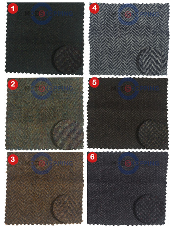 Bespoke 3 Piece Suit Fabric Tweed For Man No. 1-6