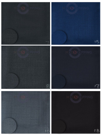 Bespoke 2 Piece Suit Fabric Wool & Poly For Man | sample MT/Co No. 7-18