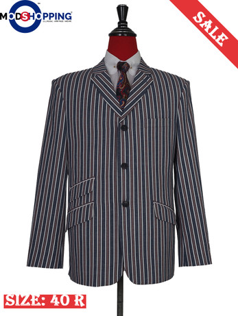 Mod shopping 60s grey and brown striped casual jacket