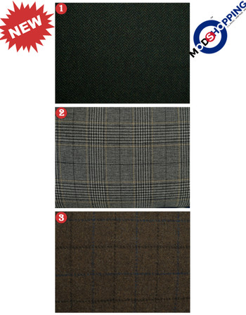 Bespoke 3 Piece Suit Fabric Tweed 100% Wool Suit For Man