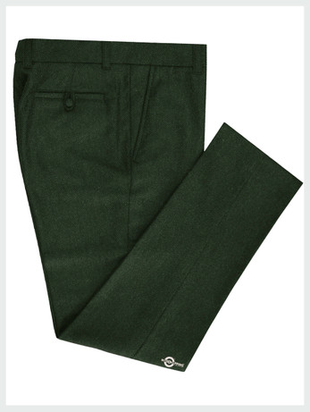 Mod Tweed Trouser |  Dark  Green Color Mod Trouser For Men