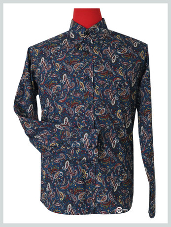 Paisley Shirt |  60s Mod Style multi colour  Shirt