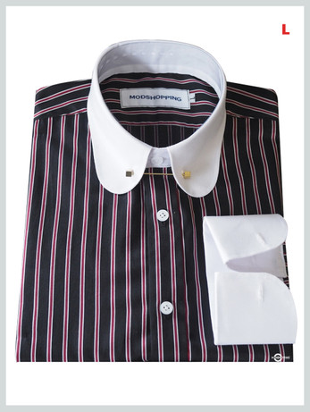 This Shirt Only. Black With Red Stripes Shirt For Man