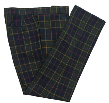 check trouser| slim fit retro multi colour mens trouser