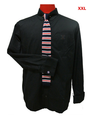 This Shirt Only. Black mod shirt  60s vintage mod style penny collar shirt