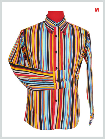 This Shirt Only. 60'S Candy Style Multi Color Shirt