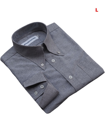 This Shirt Only. Button Down Pointed Collar Shirt   Gray Color