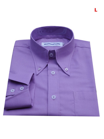 This Shirt Only. Button Down Pointed Collar Shirt   Purple Color