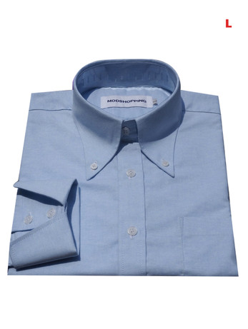 This Shirt Only. Button down pointed collar shirt   Light blue color shirt for men