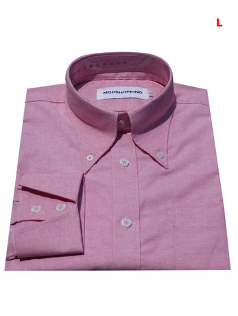 This Shirt Only. Button down pointed collar shirt   Pink color